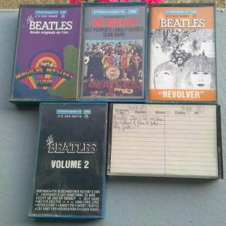 CASSETTES AUDIO BEATLES